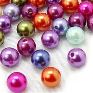 Other - Mardi Gras Multicolored Shiny 10mm Beads